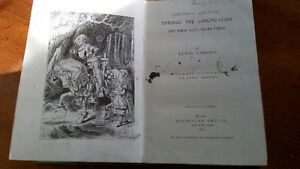 antique book 1887 Through the Looking Glass by Lewis Carroll London Ontario image 4