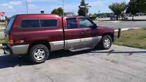 Topper off extended cab short box chevy