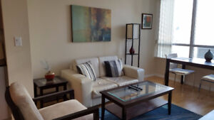 October 20: Furnished downtown 1 Bedroom + Den @ Maple Leaf Sq