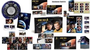 2016 Star Trek Coin & Stamp Sets Lot Of 9 - 50th Anniversary