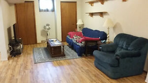 large one bedroom basement apartment in central Lindsay