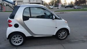2009 Smart car Fortwo White Hatchback with sunroof