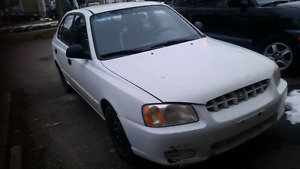 2002 hyundai accent.  Only 189km