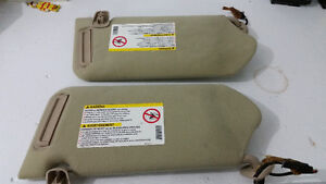 2000- 05 Chevy Impala TAN Colored Sunvisor Pair LIGHTED OEM Used