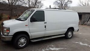 2013 ford Insulated Cargo Van with roof vent, solar panel