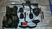 Tipmann 98 Custom Pro paintball gun and kit