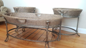 Wicker Coffee and End tables