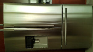 "Samsung 36"" french door stainless steel fridge"