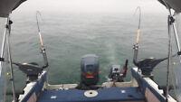Salmon fishing lake Ontario