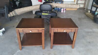 Wooden end tables.  $50 each or $90 for pair