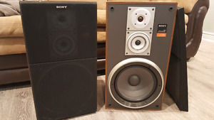 Pair of Sony speakers with grill $ 150