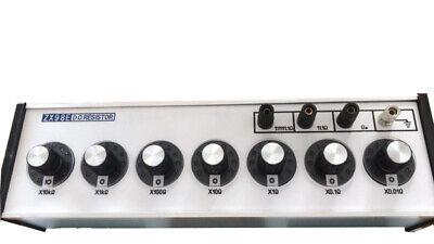 Dc Bridges 0.01111111.10 Megaohm Range Resistance Decade Box Zx98e 7 Dials