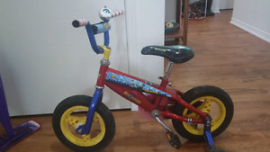 TOY STORY bike !! Ages 2 + like new