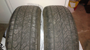 Two tires for sale $50 for the pair