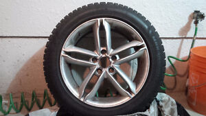 Audi winter rims and tires Kitchener / Waterloo Kitchener Area image 2