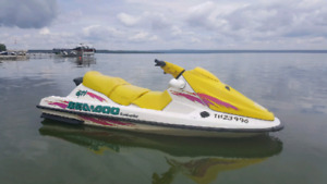 1998 GTI Sea-Doo with lift and trailer