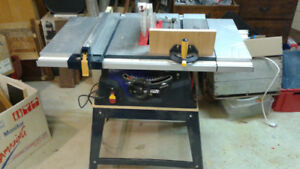 """Table Saw, 10"""" MasterCraft , 120 Volt, 15Amp, with stand"""