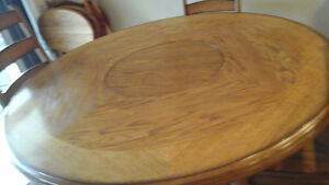 Games or Poker Table & 4 Chairs- Solid Oak - $175.00