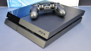 One terabyte PS4 Console with 2 Controllers and 1 game