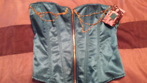 Emerald Green Corset Size 34 by Dream girl NEW with tags