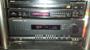 HARMAN / KARDON AVR 25 II AMP WITH 5 DISC CD PLAYER 2 SPEAKERS