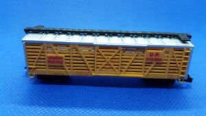 """N Scale """"Life-Like 7759 Union Pacific"""" Cattle Car"""
