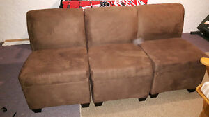 brown storage couch