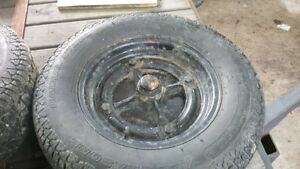 """13"""" trailer tims and tires"""