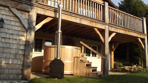 Wood Burning - Cedar 4 person Hot Tub
