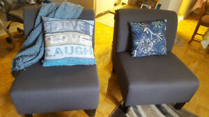 2 chairs (blue) for sale!