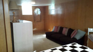 BRIGHT ,CLEAN, BASEMENT BACHELOR SUITE  (Regina not Moose Jaw)