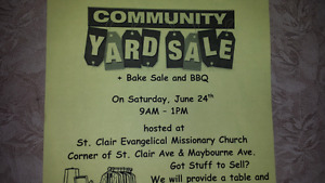 Community Yard Sale this Sat June 24 scarborough