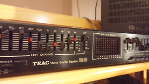 Teac stereo graphic equalizer. Eqa-20