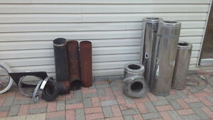 Wood stove pipe
