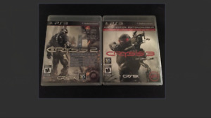 PS3 video games Crysis 2 & 3