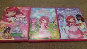 3 Strawberry Shortcake DVDs in excellent condition