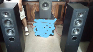 SOUND DYNAMICS RTS-7 SPEAKERS (a pair) + Subwoofer