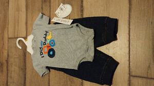Newborn and 0-3 month boys clothes new