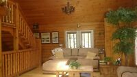 Water Front Cedar Log Home on Thames River w Hobby/Horse Farm