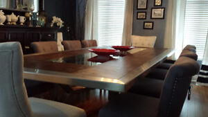 CUSTOM BUILT DINING / CONFERENCE ROOM TABLE