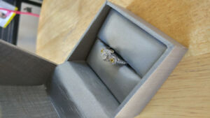 1.33 ct 14k white gold engagement ring