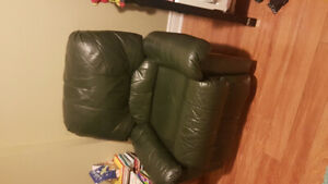 Genuine Leather  recliner and rocking chair/ arm chair