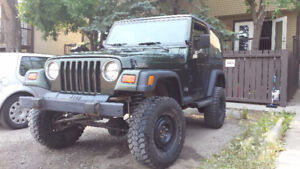 "98 Jeep Wrangler TJ, low kms, 3.5"" Lift + More"