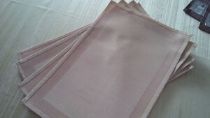 New 4 Beige Table Placements - for sale ! Kitchener / Waterloo Kitchener Area image 1
