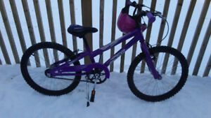 Girls 20 inch Norco Bicycle, with Helmet