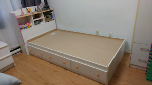 Ikea Twin bed for children with Headboard.