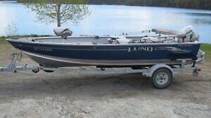 Bateau de pêche Lund Outfitter 1750, Honda 50 hp