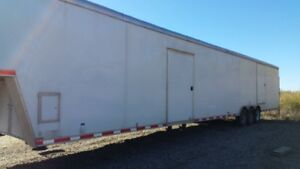 2012 53 ft continental enclosed trailer & 2002 International