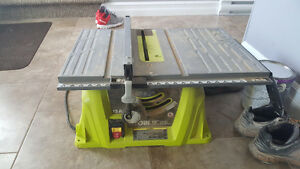 Ryobi 15 amp 10 inch table saw.