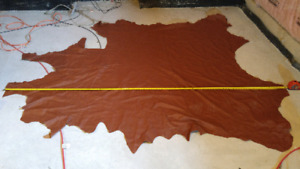 UPHOLSTERY LEATHER HIDE - 9 Ft x 7.5 Ft